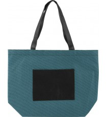 Shopper in TNT con manici rete colorata frontale personalizzata
