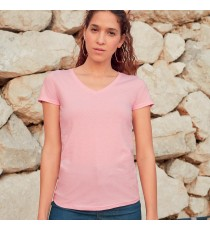 T-SHIRT 165 g/m2 DONNA COLLO A V MANICA CORTA FRUIT OF THE LOOM