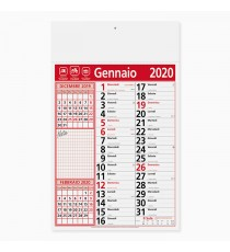 Calendario 29 x 47 cm Olandese Notes personalizzato in Serigrafia Monocolore