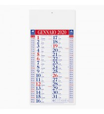 Calendario 23 x 47 cm Olandese Shaded personalizzato in Serigrafia Monocolore