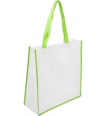 Shopper Bag in TNT 38 x 40 x 16 cm con manici e bordi colorati personalizzata!