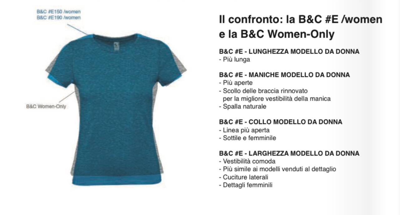 Differenze B&C Donna